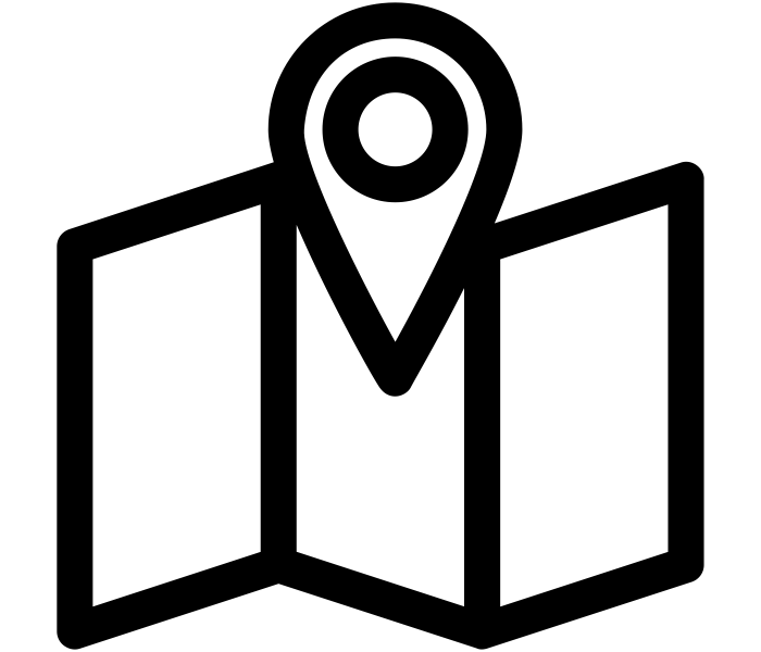 Pictogram of a pin on a map